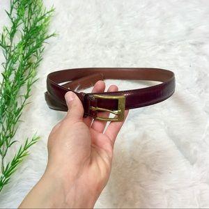 Dooney and Bourke Vintage Burgundy Leather Belt